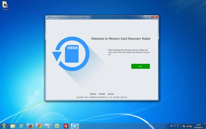 Launch Memory Card Recovery Robot