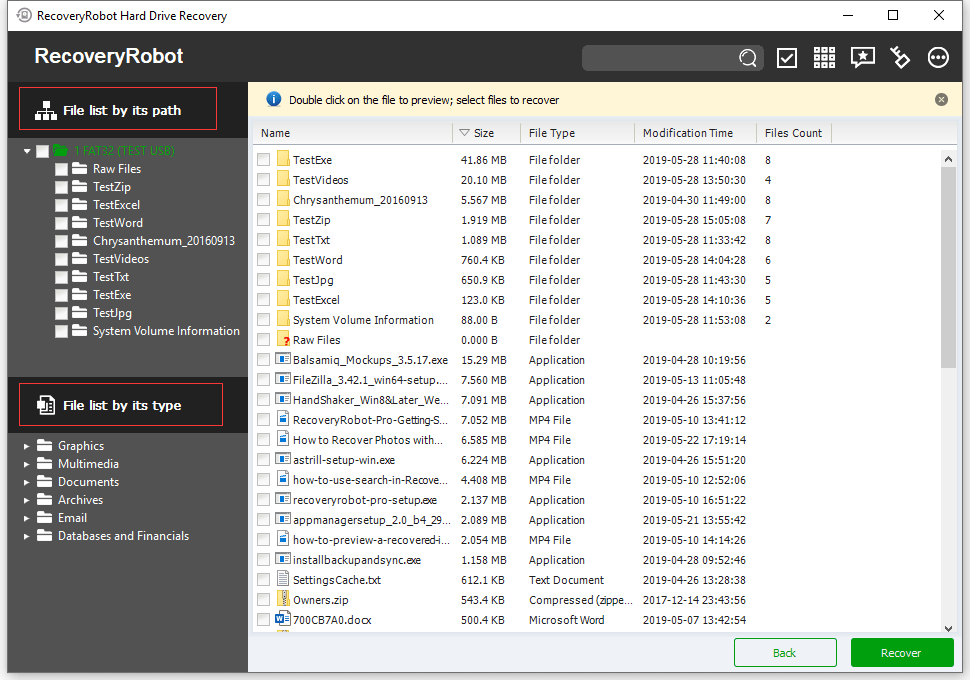 RecoveryRobot Hard Drive Recovery - Views