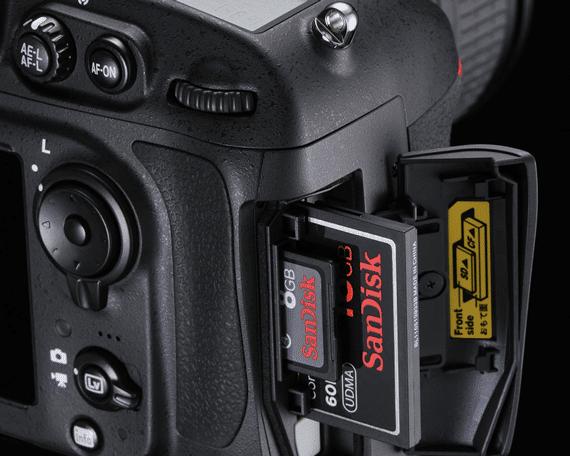 CF card in camera