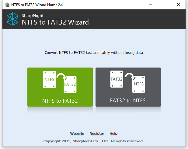 NTFS to FAT32 Wizard License Code