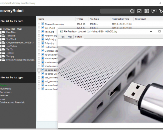 USB data recovery software